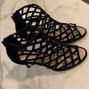 NWOT Sole Society Black Cage Heels SZ 9.5